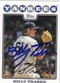 BILLY TRABER AUTOGRAPHED BASEBALL CARD #62511Q