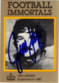 JIM LANGER AUTOGRAPHED FOOTBALL CARD #62512E