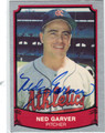 NED GARVER AUTOGRAPHED BASEBALL CARD #62611F