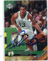 DELONTE WEST AUTOGRAPHED ROOKIE BASKETBALL CARD #62611M