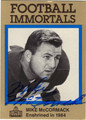 MIKE McCORMACK AUTOGRAPHED FOOTBALL CARD #62612B