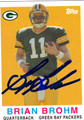 BRIAN BROHM AUTOGRAPHED ROOKIE FOOTBALL CARD #62711O