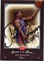 JOE DUMARS DETROIT PISTONS AUTOGRAPHED BASKETBALL CARD #62812H