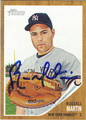 RUSSELL MARTIN AUTOGRAPHED BASEBALL CARD #62911B