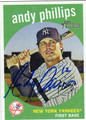 ANDY PHILLIPS NEW YORK YANKEES AUTOGRAPHED BASEBALL CARD #62811D