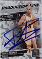 TONY PARKER SAN ANTONIO SPURS AUTOGRAPHED BASKETBALL CARD #62912H
