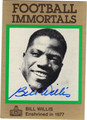 BILL WILLIS AUTOGRAPHED FOOTBALL CARD #62912M