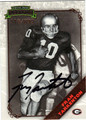 FRAN TARKENTON AUTOGRAPHED & NUMBERED FOOTBALL CARD #62911E