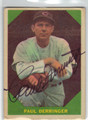 PAUL DERRINGER ST LOUIS CARDINALS AUTOGRAPHED VINTAGE BASEBALL CARD #70213B