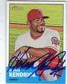 HOWIE KENDRICK LOS ANGELES ANGELS OF ANAHEIM AUTOGRAPHED BASEBALL CARD #70113E