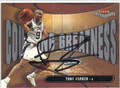 TONY PARKER SAN ANTONIO SPURS AUTOGRAPHED BASKETBALL CARD #70413C