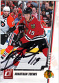 JONATHAN TOEWS CHICAGO BLACKHAWKS AUTOGRAPHED HOCKEY CARD #70413B