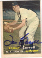 TOMMY CARROLL AUTOGRAPHED VINTAGE BASEBALL CARD #70611D
