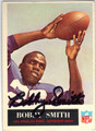 BOBBY SMITH LOS ANGELES RAMS AUTOGRAPHED VINTAGE ROOKIE FOOTBALL CARD #70713C
