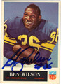 BEN WILSON LOS ANGELES RAMS AUTOGRAPHED VINTAGE FOOTBALL CARD #70813B