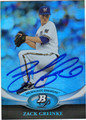 ZACH GREINKE MILWAUKEE BREWERS AUTOGRAPHED BASEBALL CARD #70813E
