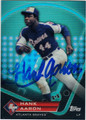 HANK AARON ATLANTA BRAVES AUTOGRAPHED BASEBALL CARD #71113C