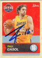 PAU GASOL LOS ANGELES LAKERS AUTOGRAPHED BASKETBALL CARD #71113D