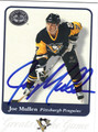 JOE MULLEN PITTSBURGH PENGUINS AUTOGRAPHED HOCKEY CARD #71113i