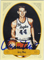 JERRY WEST LOS ANGELES LAKERS AUTOGRAPHED BASKETBALL CARD #71213B