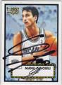 MANU GINOBILI SAN ANTONIO SPURS AUTOGRAPHED BASKETBALL CARD #71013D