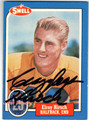 ELROY CRAZYLEGS HIRSCH LOS ANGELES RAMS AUTOGRAPHED FOOTBALL CARD #71213H