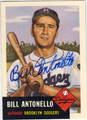 BILL ANTONELLO BROOKLYN DODGERS AUTOGRAPHED BASEBALL CARD #71213A
