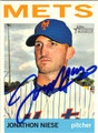 JONATHAN NIESE NEW YORK METS AUTOGRAPHED BASEBALL CARD #71313A