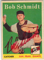 BOB SCHMIDT SAN FRANCISCO GIANTS AUTOGRAPHED VINTAGE ROOKIE BASEBALL CARD #71313E