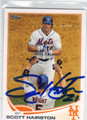 SCOTT HAIRSTON NEW YORK METS AUTOGRAPHED BASEBALL CARD #71313i