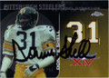 DONNIE SHELL AUTOGRAPHED FOOTBALL CARD #71411AA