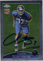 CLINT SINTIM AUTOGRAPHED ROOKIE FOOTBALL CARD #71411S