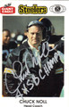 CHUCK NOLL PITTSBURGH STEELERS AUTOGRAPHED FOOTBALL CARD #71413F