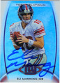 ELI MANNING NEW YORK GIANTS AUTOGRAPHED FOOTBALL CARD #71413i
