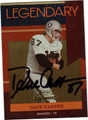DAVE CASPER AUTOGRAPHED & NUMBERED FOOTBALL CARD #71511i
