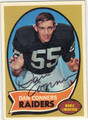 DAN CONNERS AUTOGRAPHED VINTAGE FOOTBALL CARD #71811G