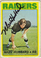 MARV HUBBARD OAKLAND RAIDERS AUTOGRAPHED VINTAGE ROOKIE FOOTBALL CARD #71811H