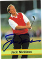 JACK NICKLAUS AUTOGRAPHED GOLF CARD #71812D