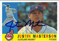 JUSTIN MASTERSON AUTOGRAPHED BASEBALL CARD #71912A