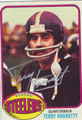 TERRY HANRATTY AUTOGRAPHED VINTAGE FOOTBALL CARD #72011N