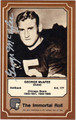 GEORGE McAFEE AUTOGRAPHED HALL OF FAME VINTAGE FOOTBALL CARD #72012i