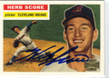 HERB SCORE AUTOGRAPHED BASEBALL CARD #72012F