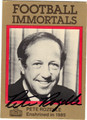 PETE ROZELLE AUTOGRAPHED FOOTBALL CARD #72012D