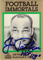 JIM PARKER AUTOGRAPHED FOOTBALL CARD #72012H