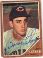 BARRY LATMAN CLEVELAND INDIANS AUTOGRAPHED VINTAGE BASEBALL CARD #72013B