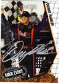 DENNY HAMLIN AUTOGRAPHED NASCAR CARD #72012K