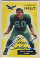 CHUCK BEDNARIK PHILADELPHIA EAGLES AUTOGRAPHED VINTAGE FOOTBALL CARD #72113B