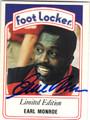 EARL MONROE AUTOGRAPHED BASKETBALL CARD #72113D