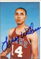 LENNY WILKENS ST LOUIS HAWKS AUTOGRAPHED BASKETBALL CARD #72211A
