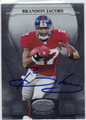 BRANDON JACOBS AUTOGRAPHED FOOTBALL CARD #72211J